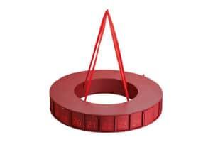 køb den elegante julekalender indpakning med udformning af adventskrans