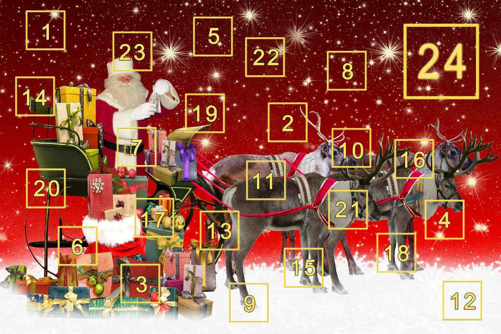 julekalender med chokolade
