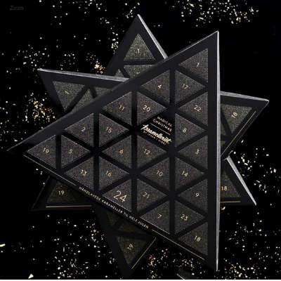 giv den trekantet julekalender fra Karamelleriet i gave