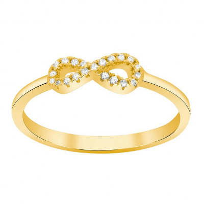 køb den søde forgyldte sølv Agna ring i gave til veninden
