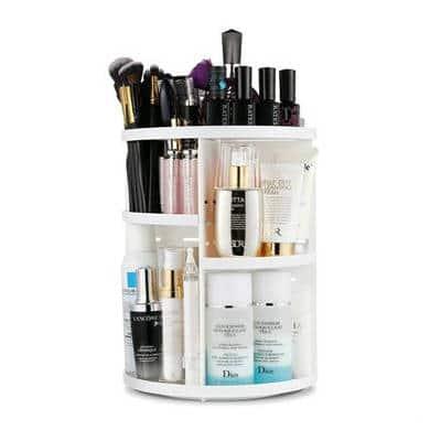 Køb Avery makeup roterende opbevaring i hvid