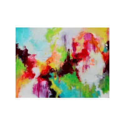 Køb et farverig Mette Vester akryl maleri