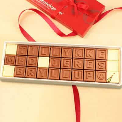 Køb den personlige chokolade i bryllupsgave