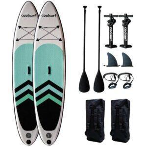 CoolSurf 2 x SAIL Kite Paddleboard oppustelig SUP 10'4