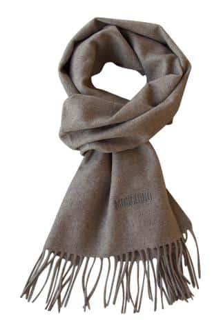 Beige uld tørklæde fra Moschino