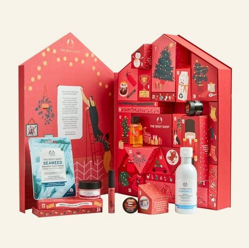 give the green Christmas calendar from Body Shop